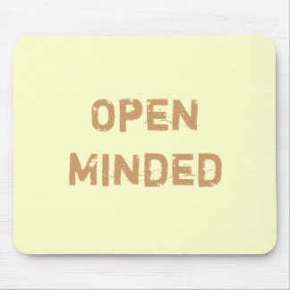 Open Minded. Light Brown. Mouse Pad