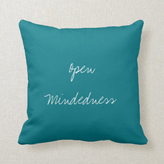 Open Mindedness Virtue Decorated Cushion Throw Pillows