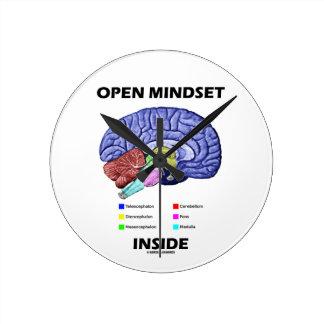 Open Mindset Inside (Anatomical Brain) Round Clock
