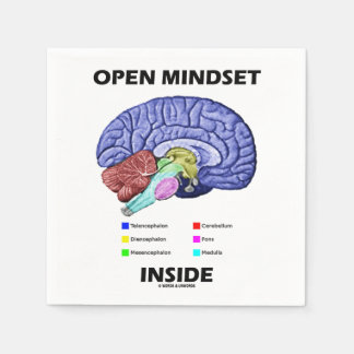 Open Mindset Inside Brain Psychology Humor Napkin