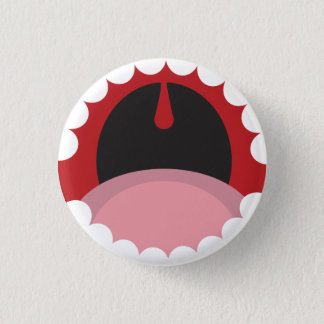 Open mouth 1 inch round button