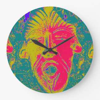 open mouth mask clock