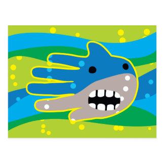 Open Mouth Shark Postcard