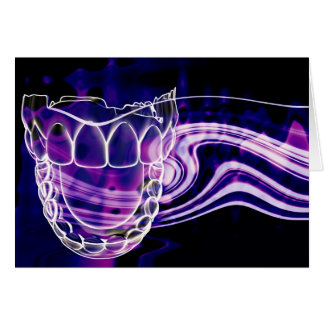 Open Mouth Teeth Design Greeting Card