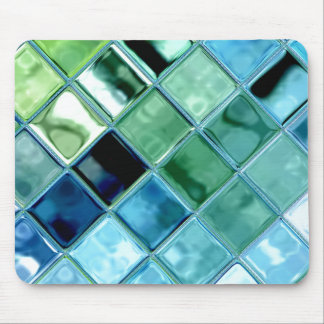Open Ocean Glass Tile Mosaic Art Mousepad