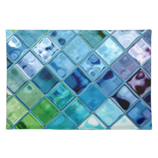 Open Ocean Placemats ~woven cotton MADE IN AMERICA