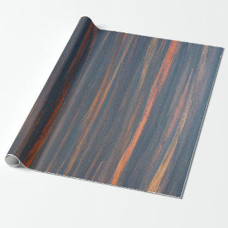 Open Party | Navy Blue Orange Gold Copper Olive Wrapping Paper