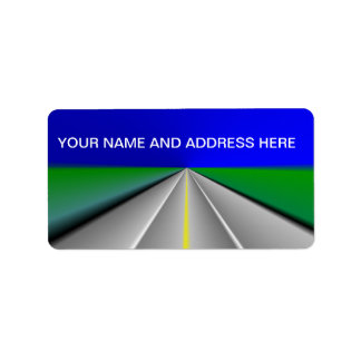 Open road/Highway background Personalized Address Labels
