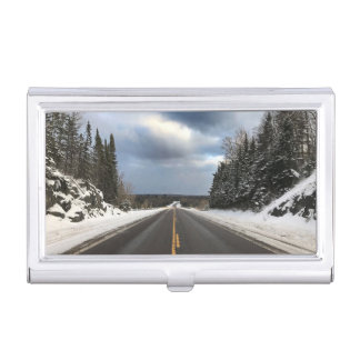 Open Road in Michigan's Upper Peninsula Card Case