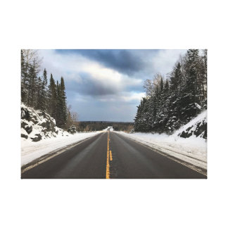 Open Road in Michigan's Upper Peninsula on Canvas