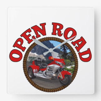 Open Road Red Trike Square Wall Clock