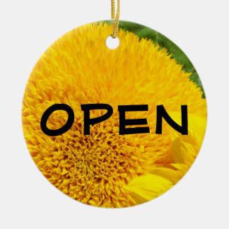 OPEN sign Closed Sign ornament Yellow Sunflowers