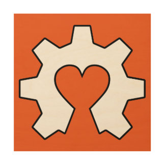 Open Source Love Wood Wall Hanging Wood Print