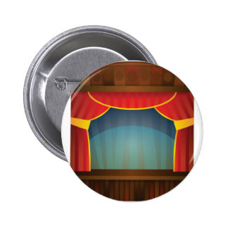 open stage red right 2 inch round button