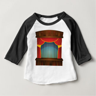 open stage red right baby T-Shirt