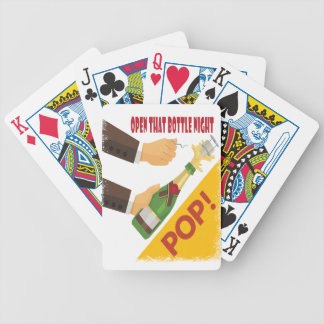 Open That Bottle Night - Appreciation Day Bicycle Playing Cards