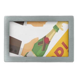 Open That Bottle Night - Appreciation Day Rectangular Belt Buckles