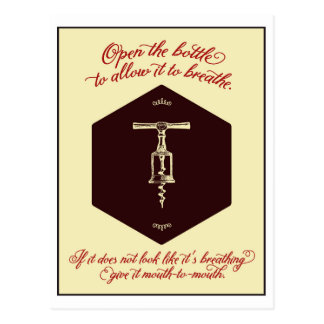 """""""Open the Bottle of Wine"""" Greeting Card - Postcard"""