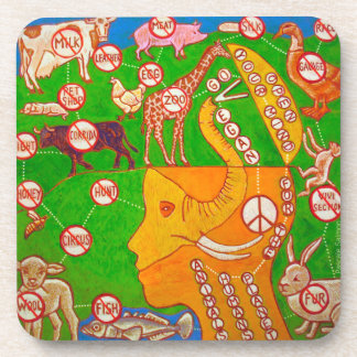 Open Vegan mind Coaster