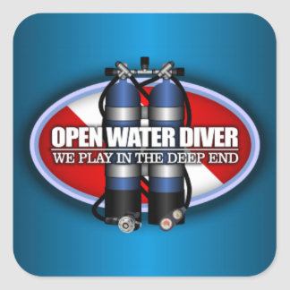 Open Water Diver (ST2) Square Sticker