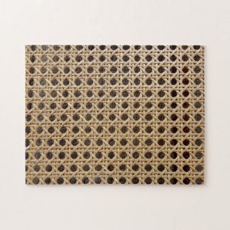 Open Weave Rattan Cane Photo Puzzle with Gift Box