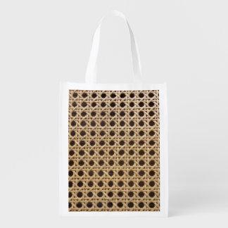 Open Weave Rattan Cane Reusable Bag