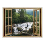 Open Window Waterfall River Poster