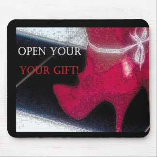 OPEN YOUR GIFT MOUSE PAD