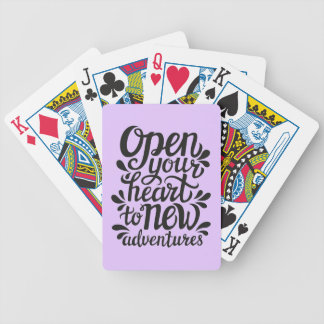 Open Your Heart To New Adventures Bicycle Playing Cards