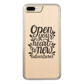 Open Your Heart To New Adventures Carved iPhone 8 Plus/7 Plus Case