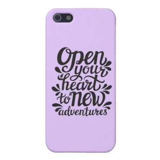 Open Your Heart To New Adventures Case For iPhone 5/5S