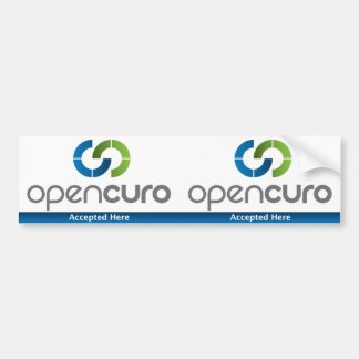 "OpenCuro Window Decal 3"" x 5.5"" Accepted Here"