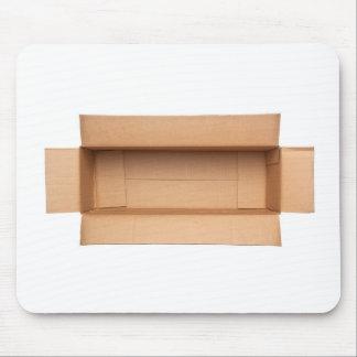 Opened retangular cardboard box mouse pad