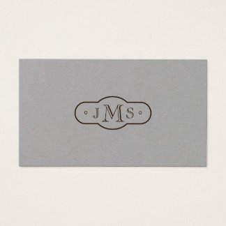 Openface Font Monogrammed Elegant Retro Business Card