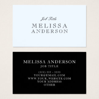 Openface Font Professional Alice Blue Business Card