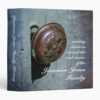 "Opening Door Custom Family History (1.5"") 3 Ring Binder"