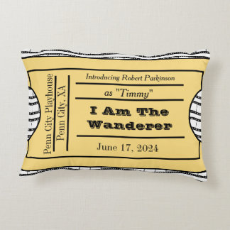 Opening Night Premier Ticket Accent Pillow