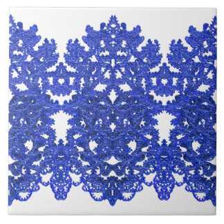 Openwork pattern in the style blue-chinoiserie tile