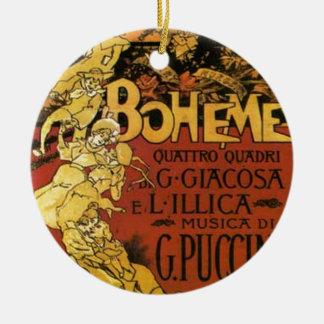 opera art round ceramic ornament
