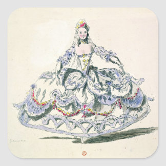 Opera Costume, from the Menus Plaisirs Collection, Square Stickers