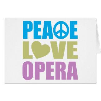 Opéra d'amour de paix carte