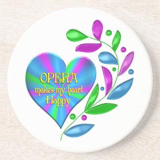 Opera Happy Heart Beverage Coaster