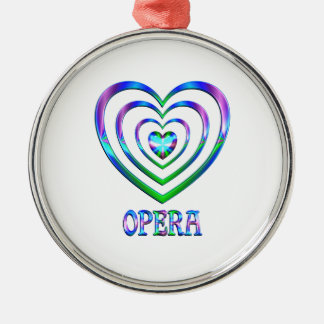 Opera Hearts Metal Ornament
