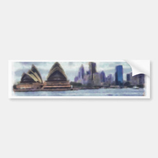 Opera house and view of Sydney Bumper Sticker