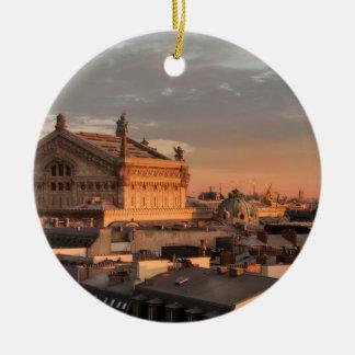 Opera in Paris, France Round Ceramic Ornament