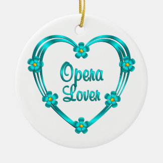 Opera Lover Ceramic Ornament