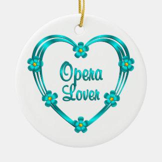 Opera Lover Round Ceramic Ornament