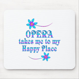 Opera My Happy Place Mouse Pad