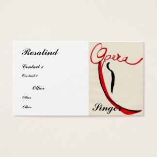 Opera singer Business Card