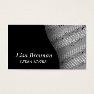 Opera Singer , Musician , Classics Notes Business Card